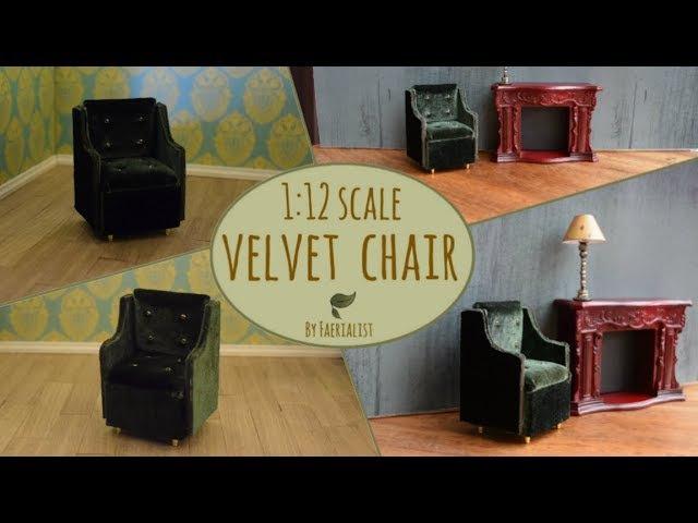 1:12 Scale Arm Chair | Faerialist's Dollhouse