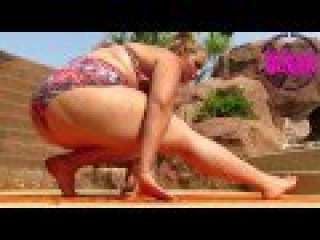 BBW Delicious Stretches and does Yoga