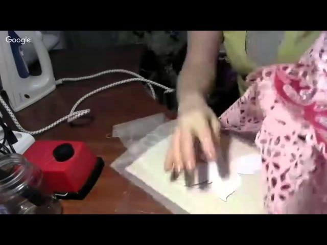 Бабочка в технике гильоширования (выжигание по ткани)