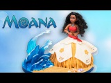 Moana Doll Cake w Isomalt Sugar Waves  Disney Cake Tutorial from Cookies Cupcakes and Cardio