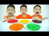 Learn Colors with JOHNY JOHNY Yes Papa &amp Color Candy M&ampM Tongue Baby Xavi - Nursery Rhymes for kids