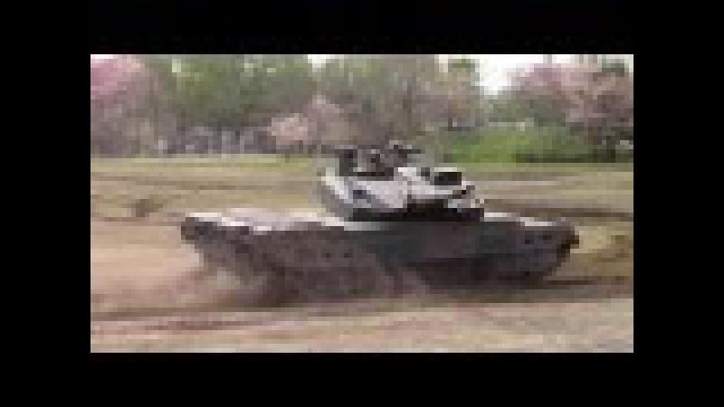 10式戦車と74式戦車の能力展示 -陸上自衛隊練馬駐屯地 創立記念行事2016