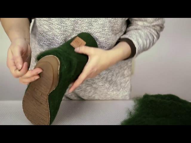 Уход за валяной обувью