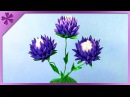 DIY Kanzashi flowers in flowerpot (ENG Subtitles) - Speed up 304