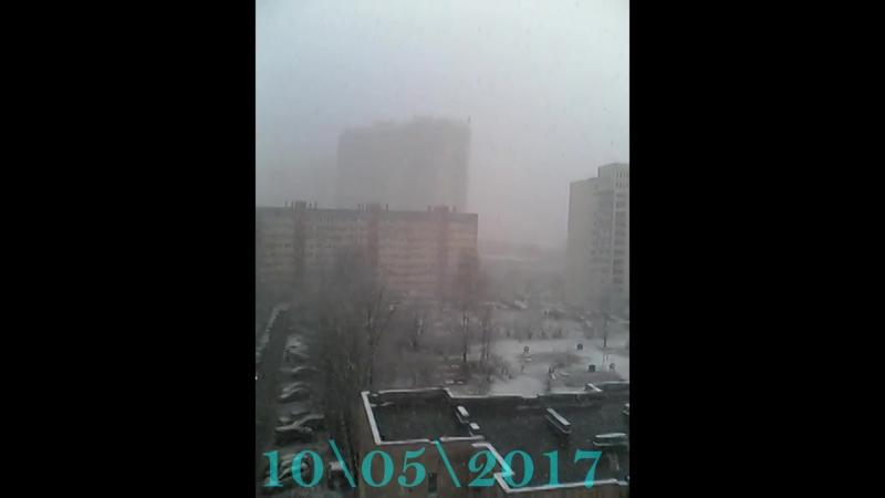 10 мая. а снег не знал и падал