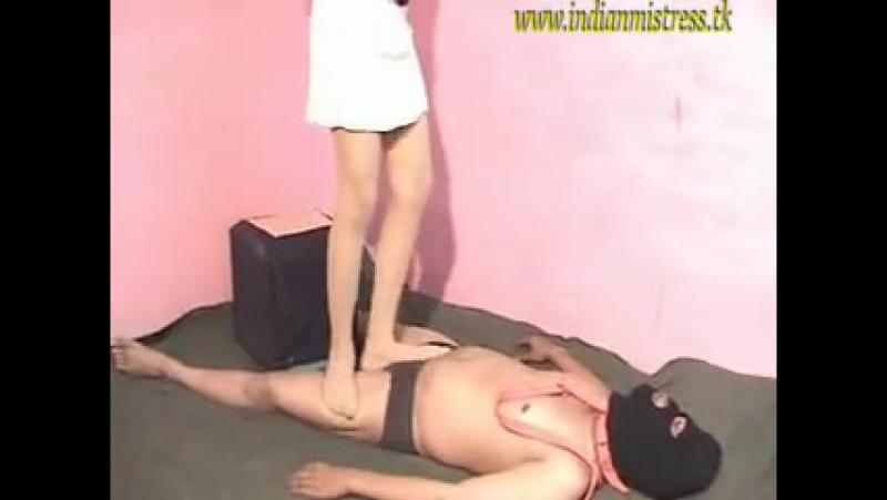 Indian Mistress Trampling Ballbusting