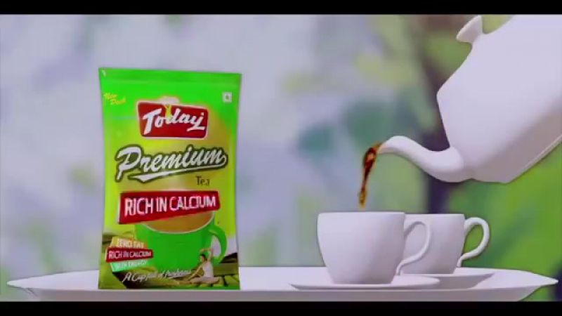 Ашиш Шарма и саная Ирани рекламируют чай (период съемок Цвета страсти)
