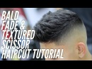 Barber Tutorial using Scissors on top with a Bald Fade on sides