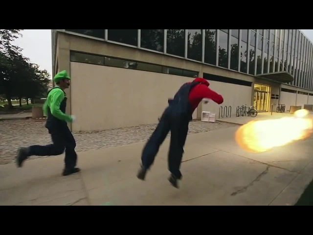 Super Mario Brothers In Real Life