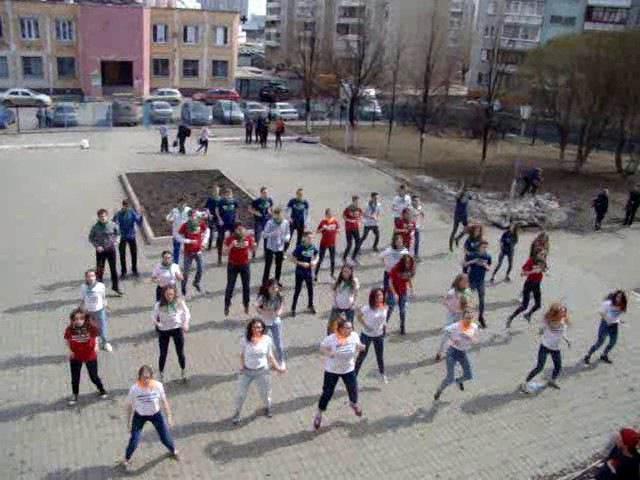 Экологический флеш моб 17 апр 17г МБОУ СОШ №129 г Челябинска