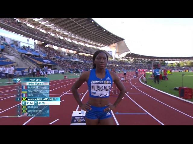 Women's 400m Final    Paris Diamond League 2017 [HD]