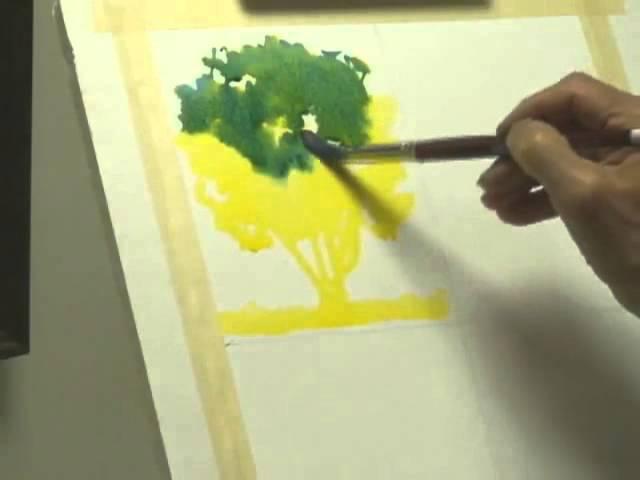 Методы рисования деревьев акварелью часть 1, Frank M. Costantino
