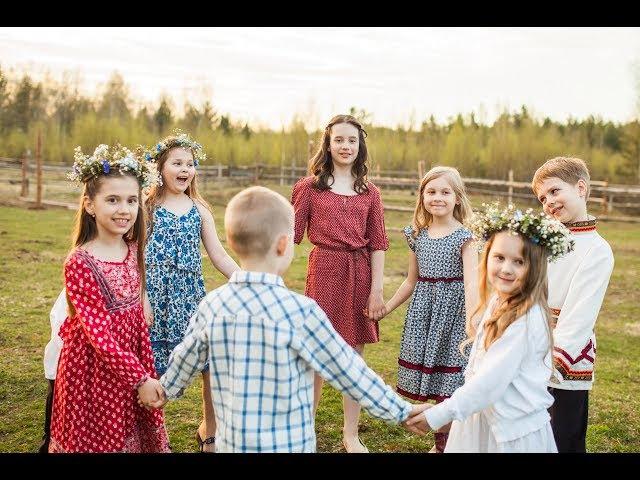 Дети поют Сердцу дорогое к празднику Троицы