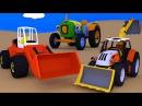 Развивающие мультфильмы. Сборник. Трактора и Экскаваторы. Рабочие машины. Мульт ...