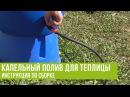 Капельный полив для теплицы: инструкция по сборке