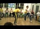 Prof. Toca (FICA, London) and CM Dana (Marrom Capoeira, RJ)