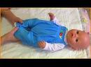 Мой Беби Бон Тёма! Забавный синий комбинезончик! My Baby Born Liza Видео для детей!