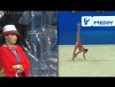И.А. Винер во время выступления Арины Авериной с мячомЧемпионат Мира 2017