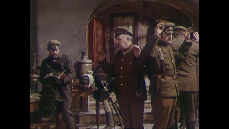 Строговы (1976). Атака кавалерии красных на населенный пункт, занятый белыми