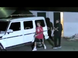 November 1: Video of Justin and Selena Gomez leaving the Los Angeles Kings Valley Ice Center in Panorama City California.