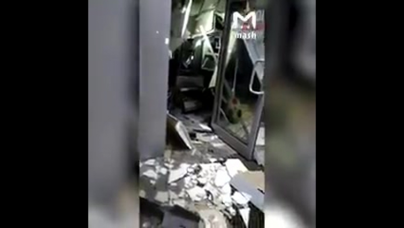 Москва, «Альфа-банк», банкомат. Ущерб от взрыва составил примерно 20 миллионов рублей.