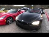 Гонки по Лос-Анджелесу и ситуация с копами - взяли BMW M4 кабрик   M6, Corvette, DODGE 700 сил и