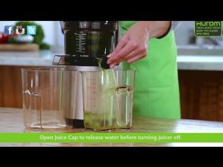 Как промыть HUROM HH ELITE SLOW JUICER