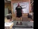 Барли Хоук, тяга из ямы 370 кг на 3 раза