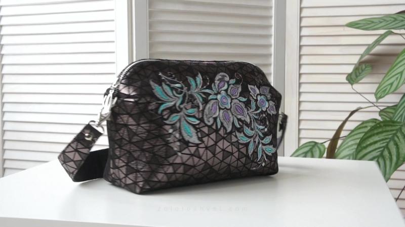 Кожаная сумка–клатч «Кристел». Торжокские золотошвеи