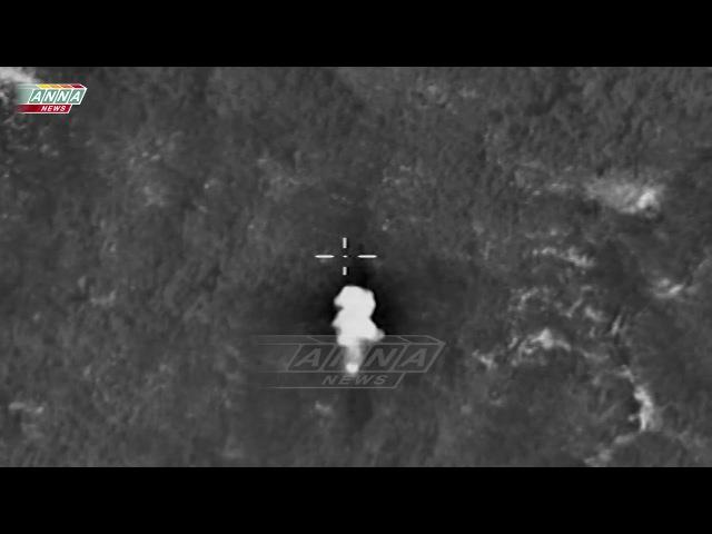 Массированый обстрел с РСЗО вид с БПЛА | Сирия 21 ноября 2015 года