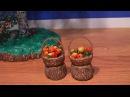 Плетение миниатюрной корзинки Часть 1 2 Weaving a miniature basket