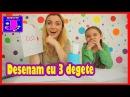 Provocare DESENAM CU 3 DEGETE♥Draw with 3 fingers CHALLENGE