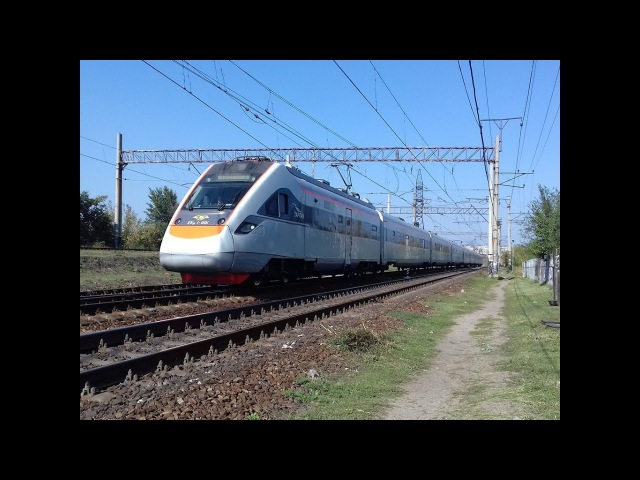 {Железная дорога} Электропоезд ЭКР1-001 Тарпан и Бегущий человек (30 сентября 201...