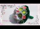 Свадебный Букет Дублер из лент розы и герберымк