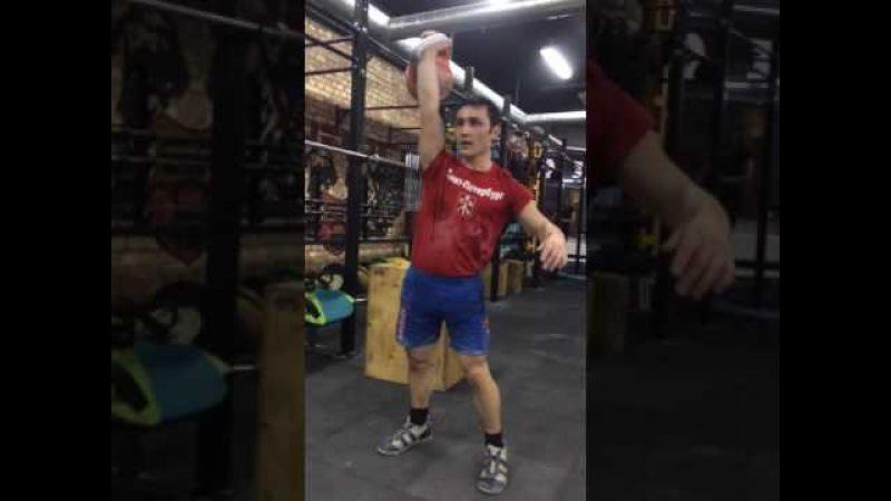 Джони Бенидзе рывок 30 кг 250 раз / Snatch 30 kg 250 reps