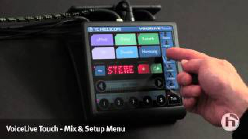 VoiceLive Touch | Mix and Setup menus.mov