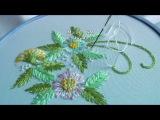 Embroidery Lazy Daisy Вышивка Маргаритки