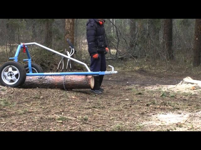Тележка для перевозки бревен и металлопроката - Лесопилов Експерт (полная версия)