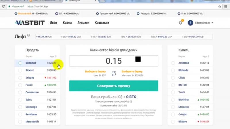 Vastbit Top дают БОНУС 0 15 ВТС и есть 3 крана от 3500 сатош