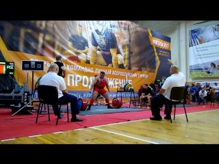 Марченко Владимир становая тяга 345 кг.