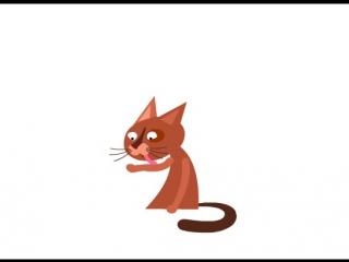 Cat. Shape animation by Ekaterina Maksimova