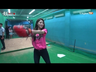 [170831] Mijoo & Jiae @ «Hanwha Eagles vs KT Wiz Baseball Game»