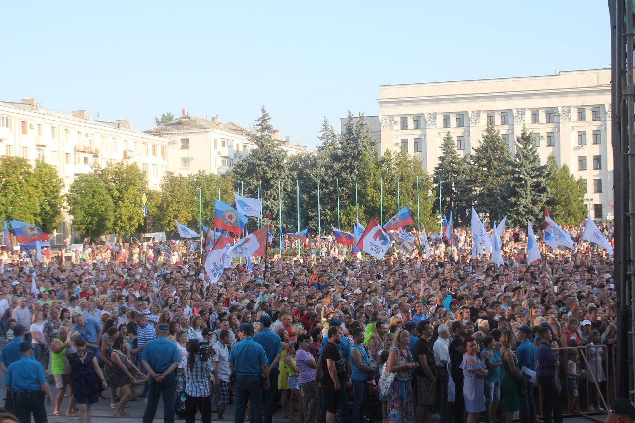 Концерт Газманова в Луганске посетили жители ЛНР, РФ и Украины