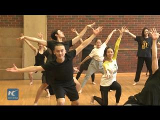 Студенты из Шанхайской театральной академии на занятиях «Летней школы» ГИТИС