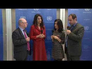 Интервью Амаль Клуни и Нади Мурад (часть 1)