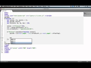HTML5 CANVAS - Advanced Events of Mouse [Tutorial]
