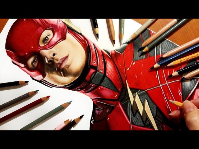 Speed Drawing: Ezra Miller as The Flash   Jasmina Susak