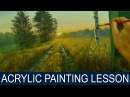 Acrylic Landscape Painting Lesson | Morning on Road in Step by Step Acrylic Tutorial by JM Lisondra