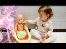 Цветная Бомбочка Для Ванны - Эми Как Мама Купает Куклу Беби Бон Emi Play Baby Born Doll