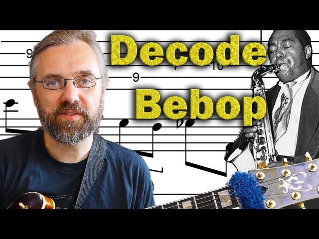 Bebop Jazz Guitar Licks Classic Bebop Sound Decoded Advanced Jazz Guitar Lesson